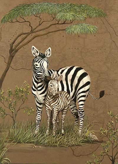 Baby Zebras In Africa Mother Africa-Zebras