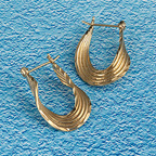 Gold Vermeil hoops with a twist
